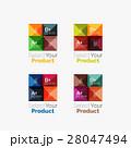 Set of abstract square interface menu navigation 28047494
