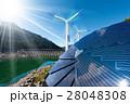 ソーラーパネル 太陽電池パネル 太陽光パネルのイラスト 28048308