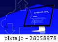 クラウド 通信 コンピューティングのイラスト 28058978