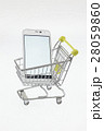 スマホ ショッピングカート スマートフォンの写真 28059860