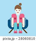 くつろぐ 座る ソファのイラスト 28060810