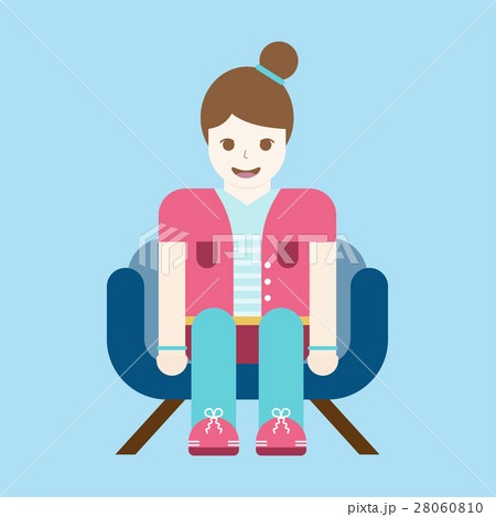 woman sitting relax on sofa vector illustration. 28060810