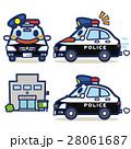 パトカー パトロールカー キャラクターのイラスト 28061687