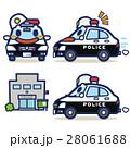 パトカー パトロールカー キャラクターのイラスト 28061688