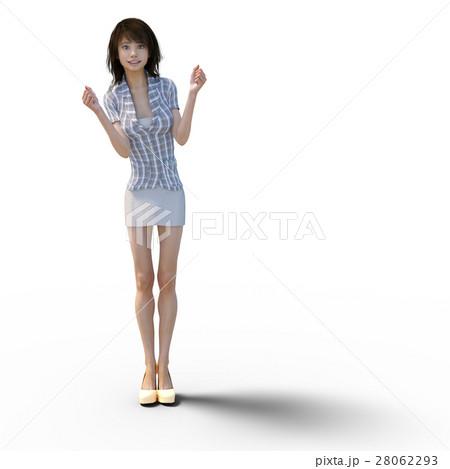 ビジネスウェアの女性 ビジネスウーマン perming3DCGイラスト素材 28062293