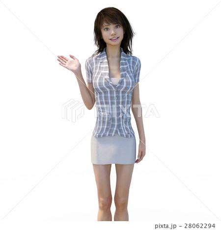 ビジネスウェアの女性 ビジネスウーマン perming3DCGイラスト素材 28062294