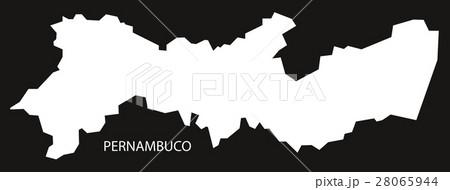 Pernambuco Brazil Map black invertedのイラスト素材 [28065944] - PIXTA