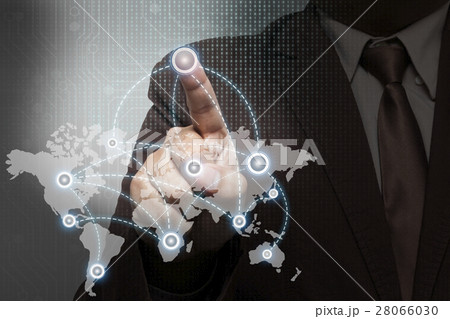 businessman person working with virtual technology 28066030