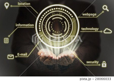 businessman person working with virtual technology 28066033