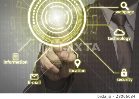 businessman person working with virtual technology 28066034