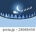 Santa Claus is flying in a sleigh with reindeer 28066456