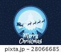 Santa Claus is flying in sleigh with reindeer 28066685