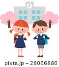 入学式 新入生 小学校のイラスト 28066886