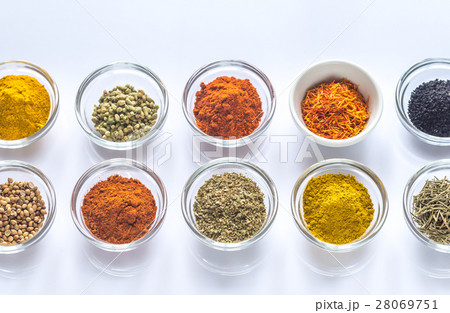 Different kinds of spices and herbs 28069751