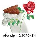 板チョコと赤いバラ 28070434