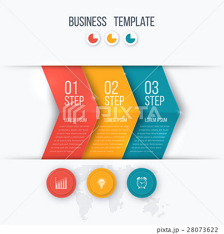 business project template with arrowsのイラスト素材 28073622 pixta