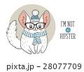チンチラ ヒップスター ポスターのイラスト 28077709