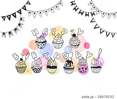Happy Birthday Cardのイラスト素材 28079232 Pixta