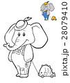 ゾウ 象 ブックのイラスト 28079410