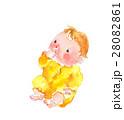 赤ちゃん 水彩 ベビーのイラスト 28082861