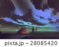 man looking at the sky at night 28085420