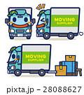 引越トラック 引っ越し キャラクターのイラスト 28088627