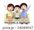 家族 一家団らん ソファのイラスト 28089047