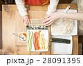 巻き寿司 海苔巻き 親子の写真 28091395