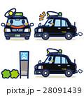 タクシー ハイヤー 黒のイラスト 28091439