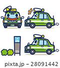 タクシー ハイヤー 緑のイラスト 28091442