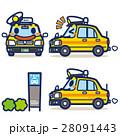 タクシー ハイヤー キャラクターのイラスト 28091443