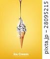 ベクトル チョコレート アイスのイラスト 28095215