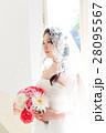 ウエディングイメージ、ベール、ウェディングドレス 28095567