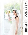 ウエディングイメージ、ベール、ウェディングドレス 28095580