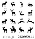 Deer collection - vector silhouette. 28095911