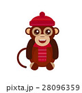 Monkey animal fun character vector illustration. 28096359