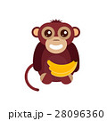 Monkey animal fun character vector illustration. 28096360