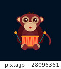 Monkey animal fun character vector illustration. 28096361