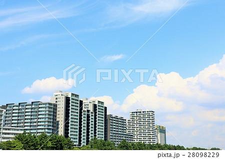 爽やかな青空のマンション 28098229