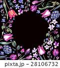 Vintage Flowers Watercolor Bouquet, Purple Tulips 28106732