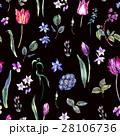 Vintage Flowers Watercolor Seamless Pattern 28106736