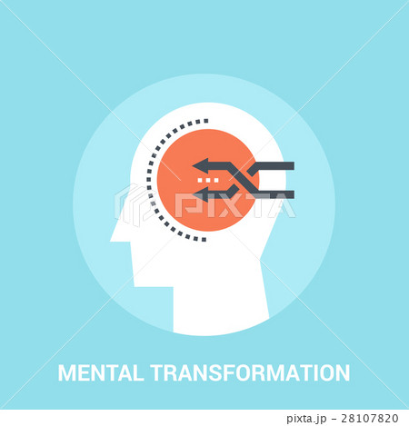 mental transformation icon concept 28107820