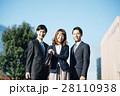 ビジネス キャリアウーマン ビジネスマンの写真 28110938