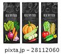Vegetables healthy food sketch banners 28112060