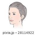 美髪、美肌の女性 28114922