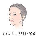 女性 人物 髪のイラスト 28114926
