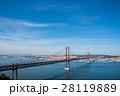 四月二十五日橋とLisbon 全景、Portugal Tejo river 28119889