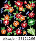 花 花柄 ハイビスカスのイラスト 28121266