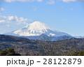 富士山 雪化粧 山の写真 28122879