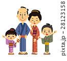 着物 家族 江戸時代のイラスト 28123158
